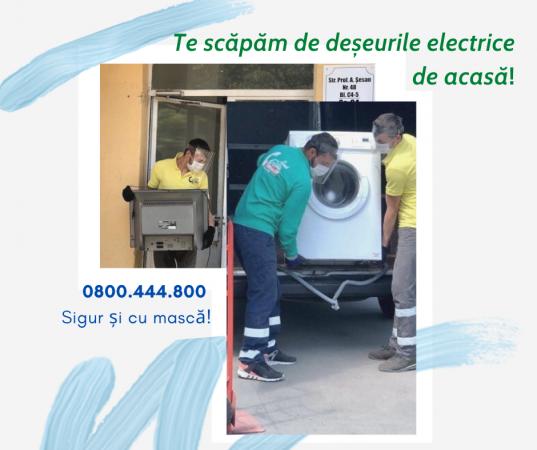 Scapă în siguranță de deșeurile electrice.
